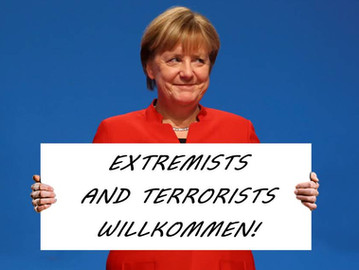 Merkel knowingly allowed extremists and suspected terrorists asylum in Germany.