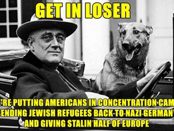 President Franklin D. Roosevelt's crimes.