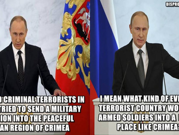 Russia accuses Ukraine of trying to do what Russia did in Crimea in 2014.