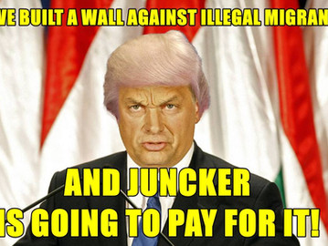 Hungary builds a wall and tells the EU to pay for it.