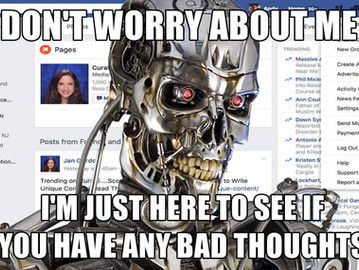 FB is now using AI to moniter you and your 'bad thoughts'.