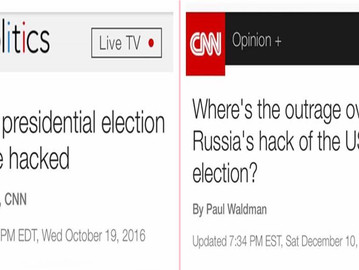 CNN is spreading fake news when it claims the US elections were hacked.