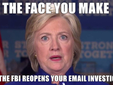 BREAKING NEWS - The FBI reopens Hillary Clinton's email investigation.