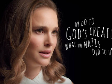 Natalie Portman equates eating meat to Nazism in a new PETA video.