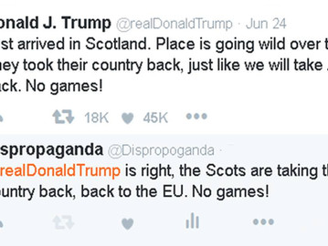 The Scots are taking their country back, back to the EU.