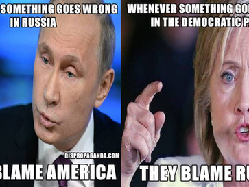 Hillary adopts Putin's tactics when dealing with DNC corruption and scandals.