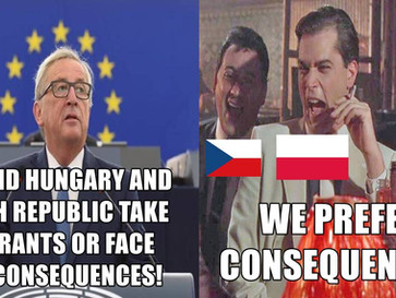EU declares a cold war against Hungary, Poland and Czech republic over its forced migrant quotas.