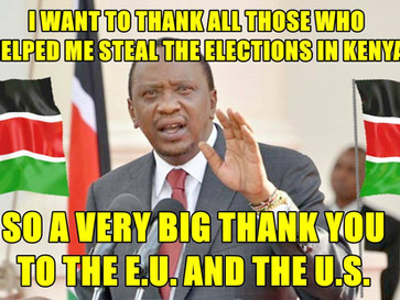 The EU and US tried to help Kenya's President steal the 2017 elections.