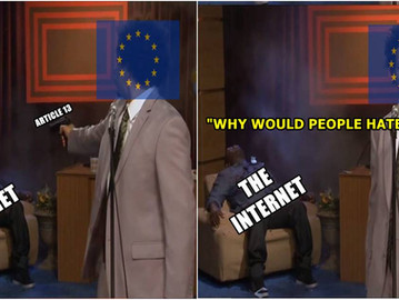 EU parliament approves Orwellian 'copyright' internet law 'article 13'.