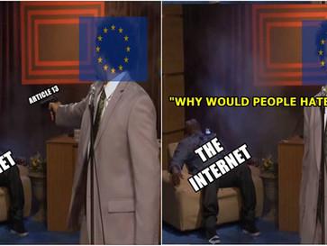 EU parliament approves Orwellian 'copyright' internet law 'article 13'.