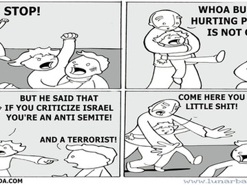 "Israel silences critics by calling them ""anti semites""."