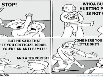 "Israel silences critics by calling them ""anti semites""."
