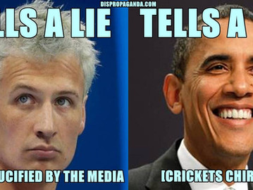 The media is usually only interested in small insignificant lies, not the big ones.