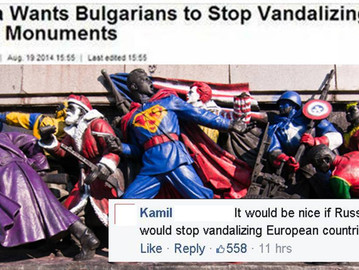 Russia is triggered about vandalised Soviet monuments in Bulgaria.