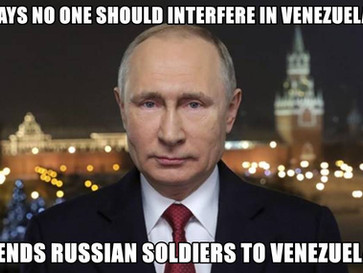 Putin is secretly sending Russian troops to Venezuela.