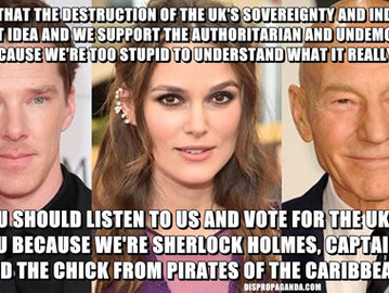 Captain Picard and Sherlock Holmes think that an independent sovereign UK is bad idea.