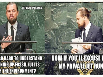 DICKaprio's speech at the UN.