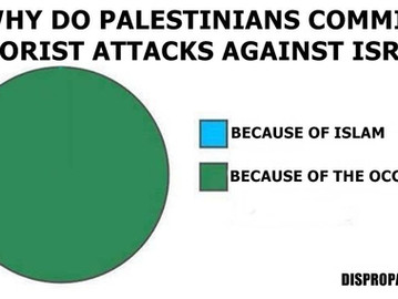Palestinian terror is fueled by the Israeli occupation, and not by Islam.