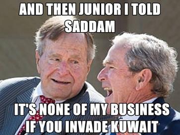 How George Bush senior greenlighted Saddam's invasion of Kuwait.