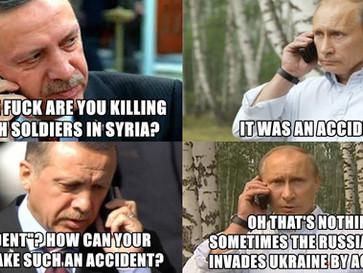 Russian airstrike kills three Turkish soldiers in Syria.
