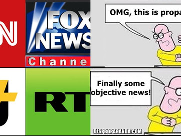 """Russian/Qatari propaganda channels, RT/AJ+, are the new """"news sources""""."""