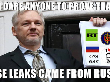 Julian Assange turned WikiLeaks to RussiaLeaks.