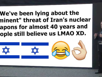 Israel has been lying about Iran's 'nuclear weapons threat' for almost 40 years.