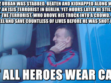 Lukasz Urban - the Polish truck driver who saved countless of lives when he fought the Berlin attack