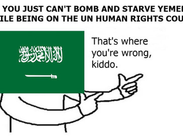 Saudi Arabia is bombing and literally starving Yemen to death.
