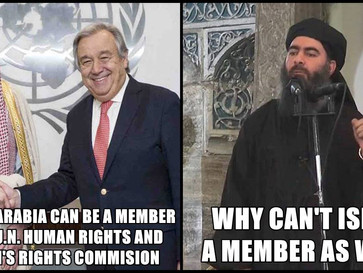 UN appoints Saudi Arabia to its women's rights commision.