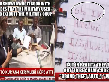 Turkish TV mistakes secret army coup codes with GTA4 cheat codes.