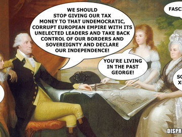 "George Washington suggesting that the US should ""Brexit"" in today's society."