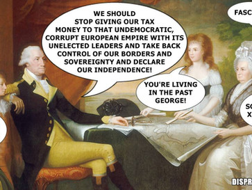 """George Washington suggesting that the US should """"Brexit"""" in today's society."""