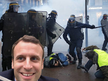 WATCH - the media won't air these videos exposing the Macron regime brutality.