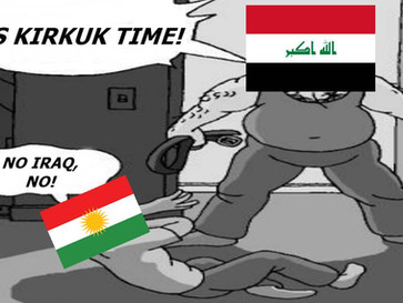 Iraqi army rolls into Kurdish held region of Kirkuk, raising prospect of a civil war in Iraq.