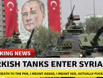 BREAKING NEWS - Turkish army enters Syria.