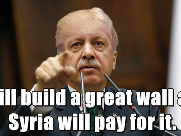 Turkey is quietly building a giant 900-km wall on its Syrian border.