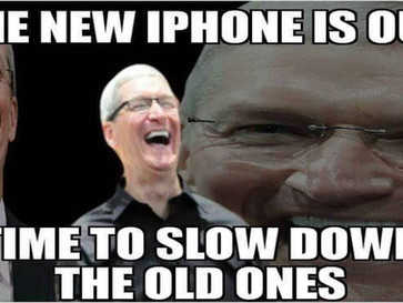 Apple slowed down older iPhones before launching a new iPhone model.