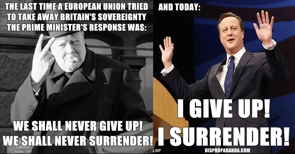 Winston Churchill Vs David Cameron Dispropaganda