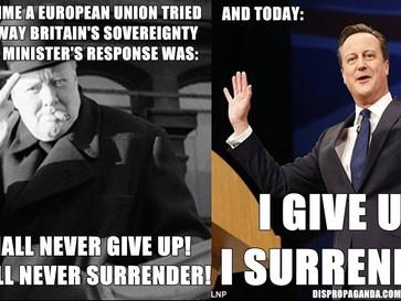 Winston Churchill vs David Cameron.