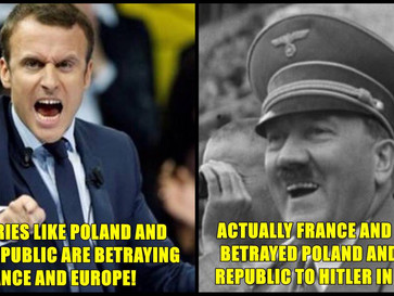 """Macron blames Poland, Czech Republic and Eastern Europe countries of """"betraying"""" Europe."""