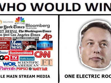 Elon Musk declares war on the media.