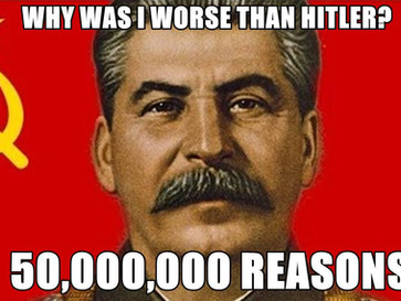 Joseph Stalin, the greatest mass murderer of all time.