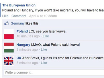 """""""Take in migrants or leave"""", EU threatens Hungary and Poland."""
