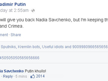 Putin releases Nadia Savchenko, but keeps Donbass and Crimea.