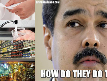 Venezuelans experience shortages of Food, power, water and even toilet paper.