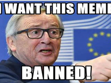 EU approves Orwellian 'meme ban' law that will result in internet censorship.