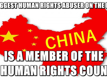 China is literally the world's biggest human rights abuser, and shouldn't be on the UN human