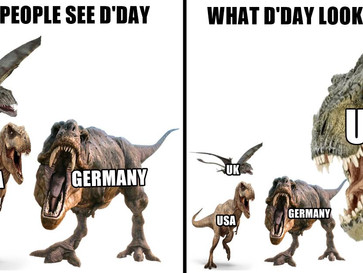 D'Day wasn't responsible for the defeat of Nazi Germany, the USSR was.