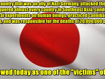 The bombing of Hiroshima and Nagasaki is used to whitewash Japan's monstrous WW2 history.